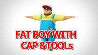 Fat Boy with cap and tool 3D model