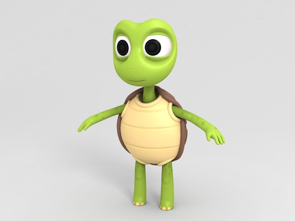 3D turtle character cartoon