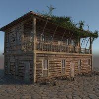 3D model old wooden