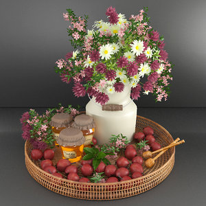 decorative set honey apples model