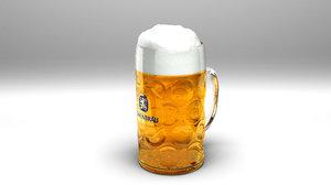 oktoberfest loewenbraeu beer 3D model