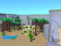 3D model desert village