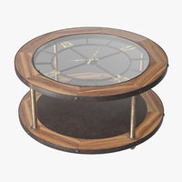 denton clock coffee table 3D