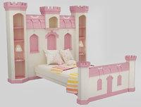 baby bed princess grils 3D model
