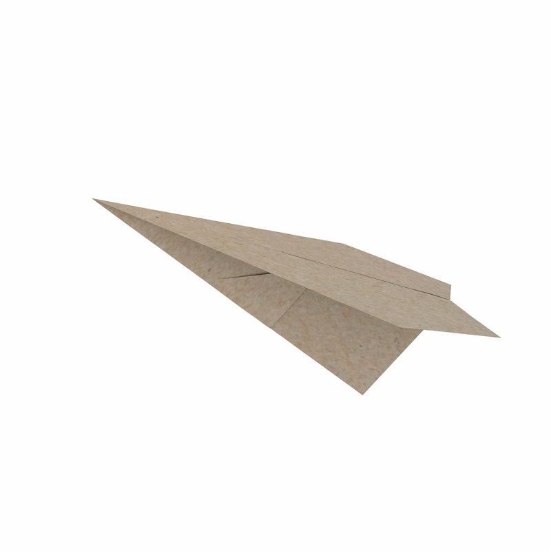 folding paper - plane 3D model