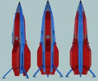 3D rocket trident type 1