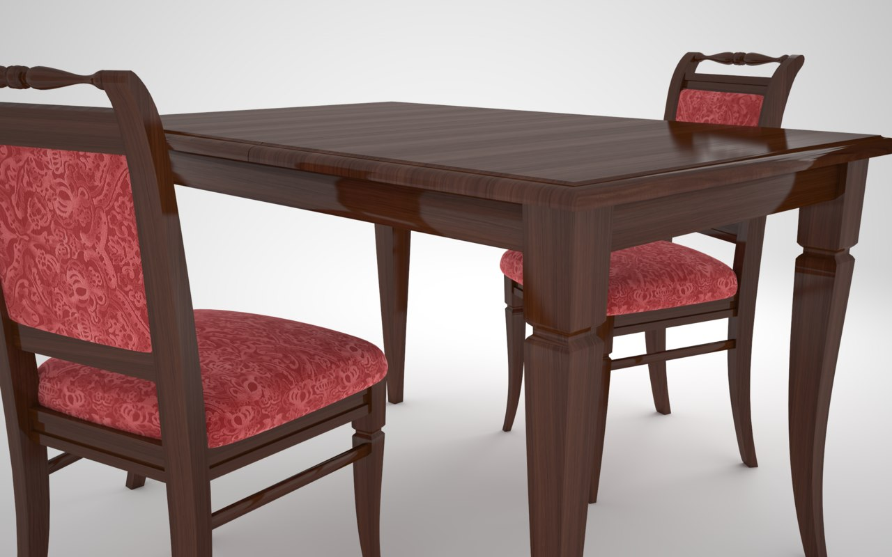 3D model table chair