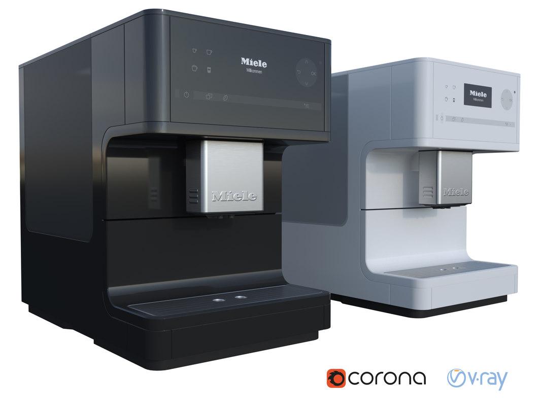 3D miele coffee machine model