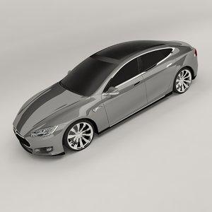 tesla s 3D model