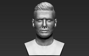 3D david beckham bust ready
