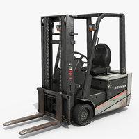 3 wheeler forklift 3D