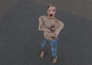rigged zombie 3D model