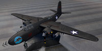 3D douglas p-70 nighthawk night