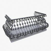 3D balcony forged model