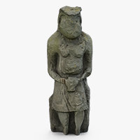 sculpture ancient statue 3D