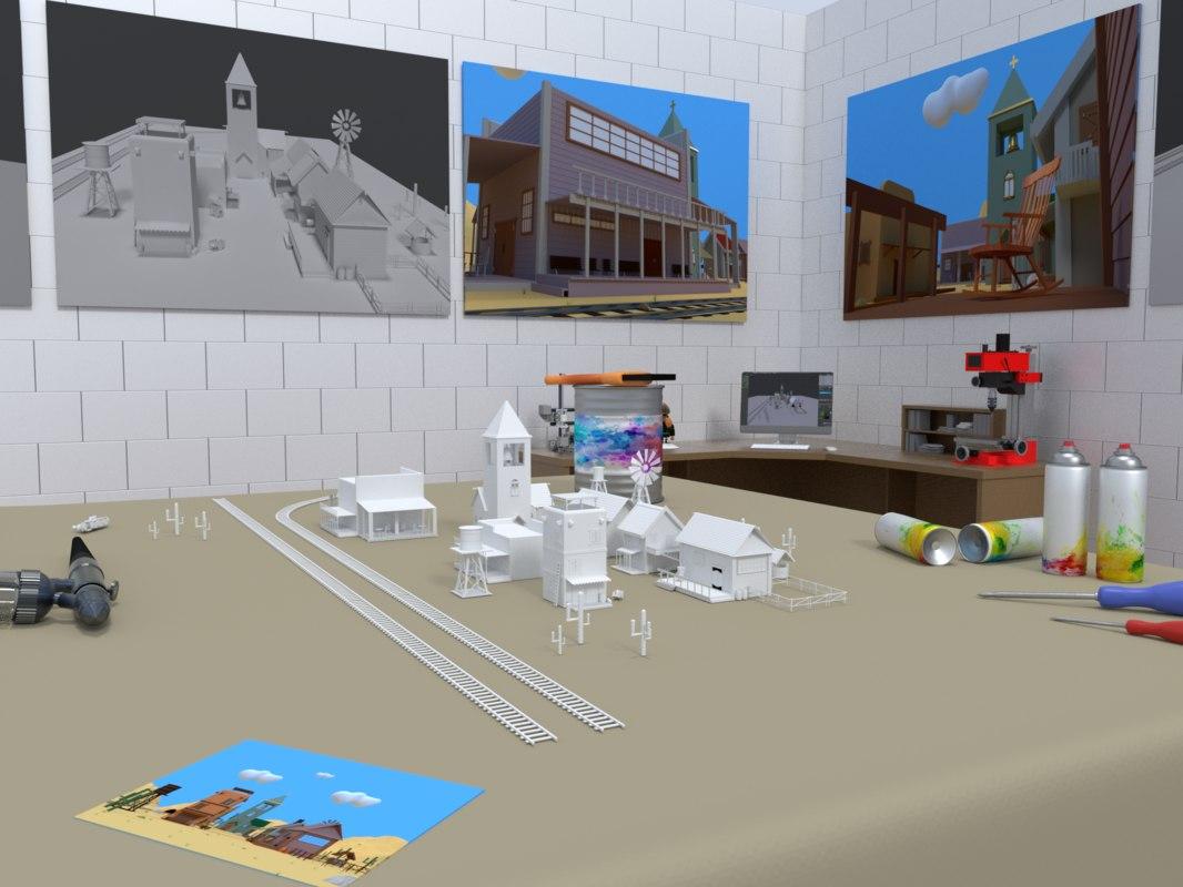 city hobby tiny 3D model
