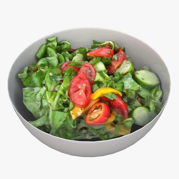 3D model scan bowl salad