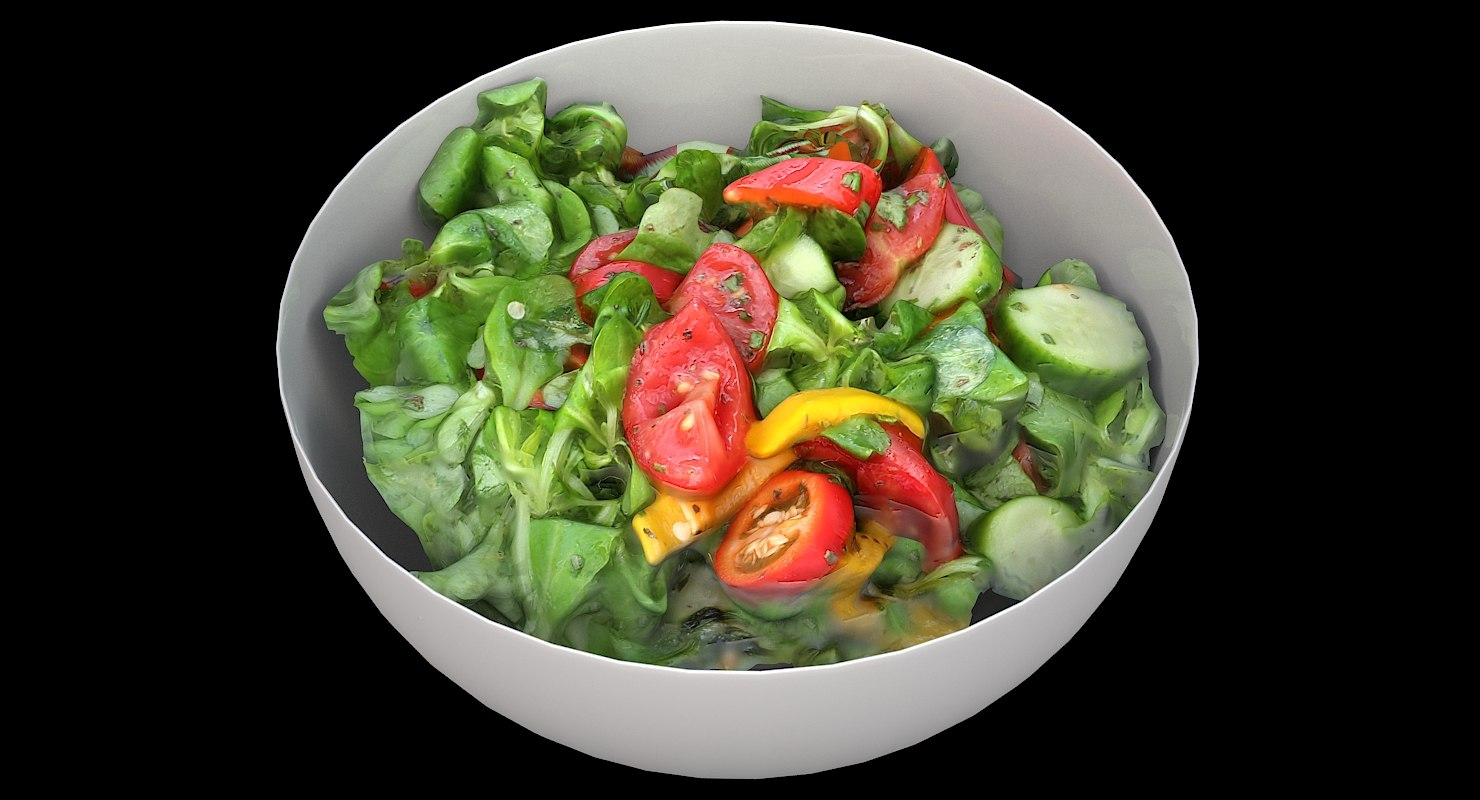 3D model scan bowl salad