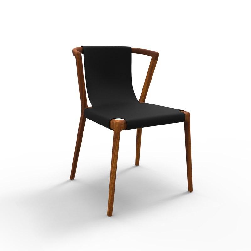 3D pieman dining chair model