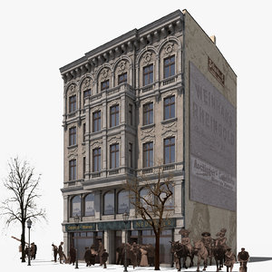 3D model building koenigstrasse 37 historical