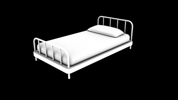 3D simple bed model