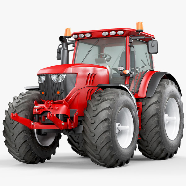 utility tractor 3D model