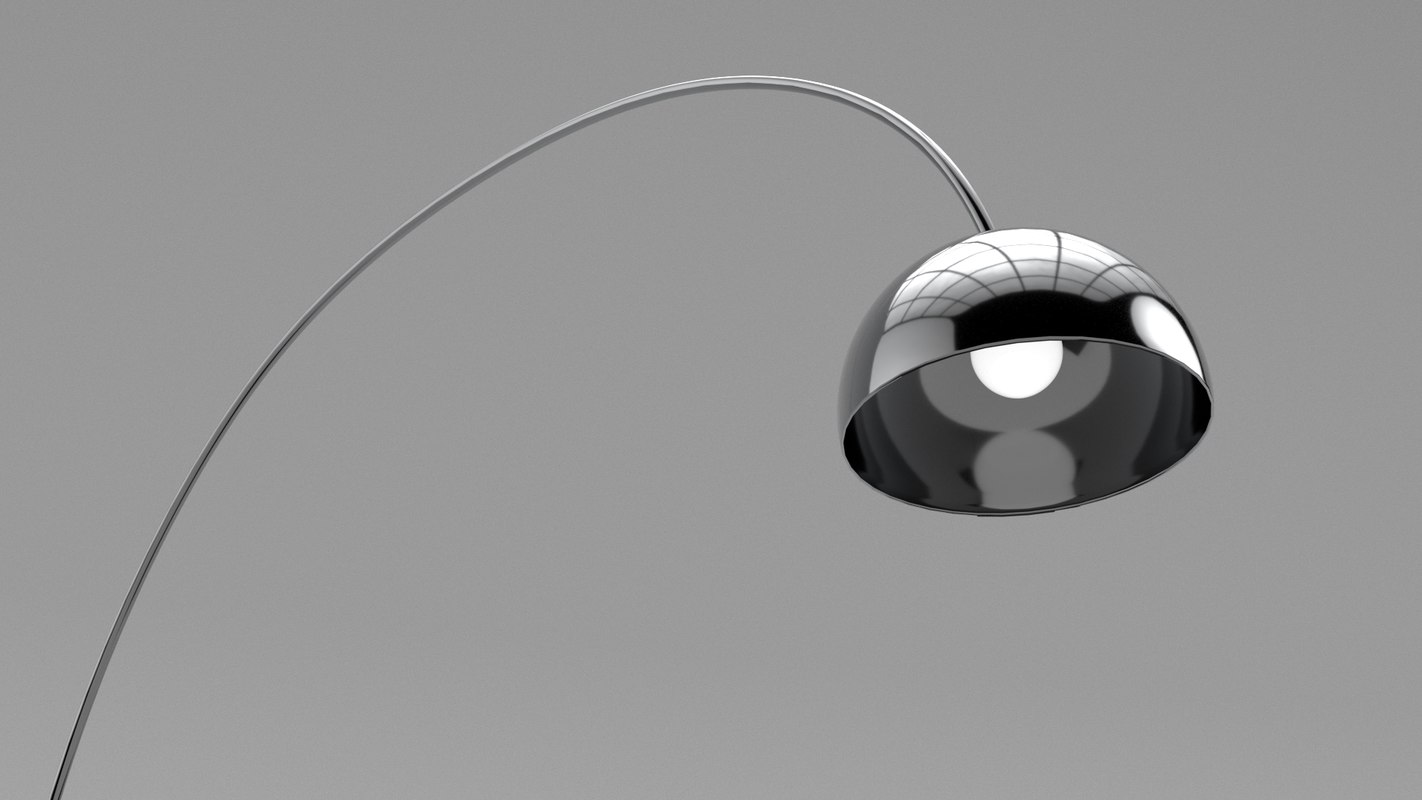 lamp arc floor light 3D model