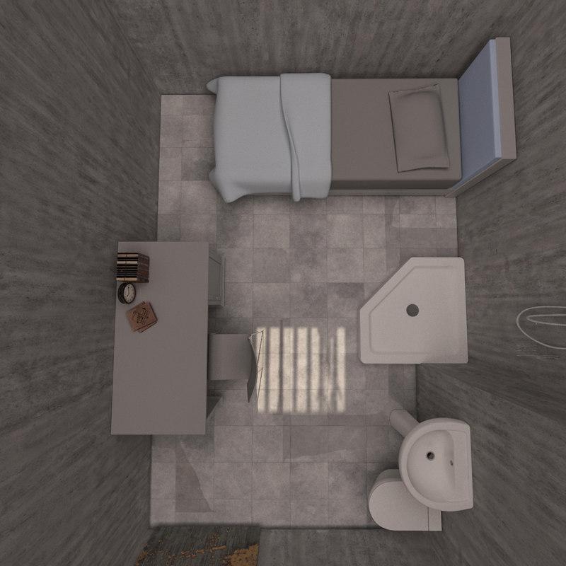 3D prison cell