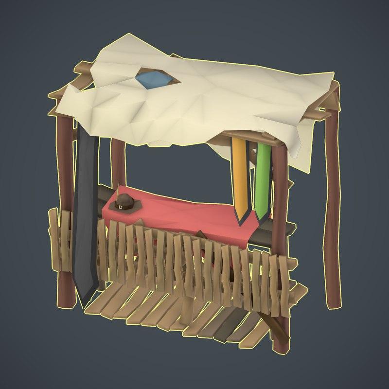 shop trade 3D model