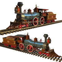 locomotive 4-4-0 standard 1872 model