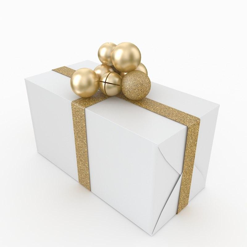 3D chistmas gift box 2