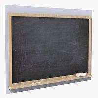 3D model chalkboard eraser