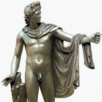 3D statue apollo belvedere