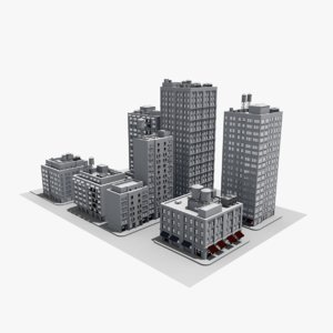 architecture building houses 3D model