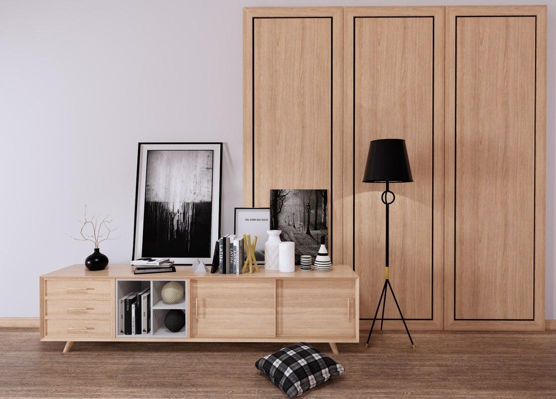 3D tv cabinet model