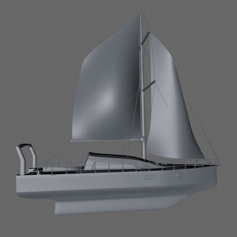 3D sailboat boat