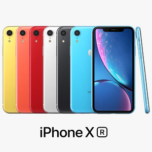 apple iphone xr color 3D