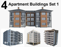 Apartment Buildings Set 1