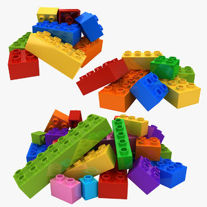 3D realistic lego bricks 2 model