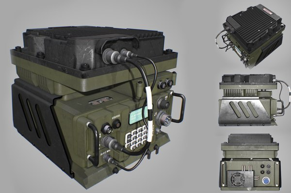 army radio transceiver 3D model