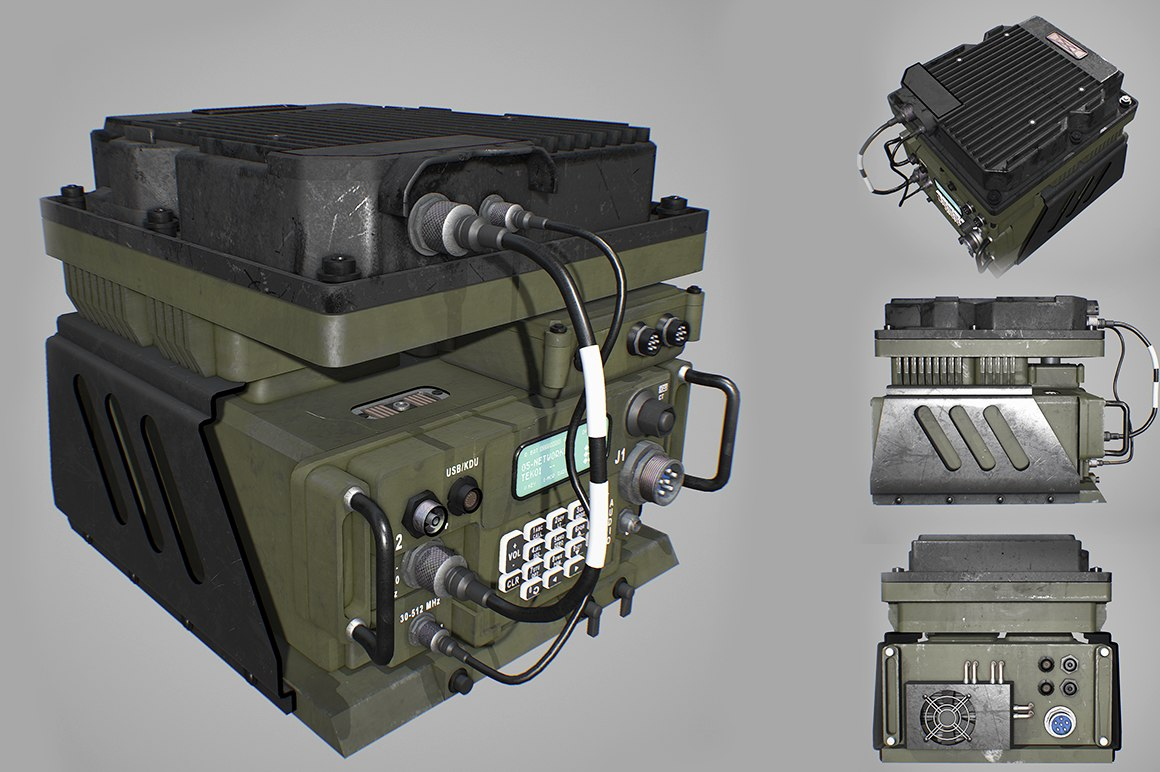 army radio transceiver 3D model