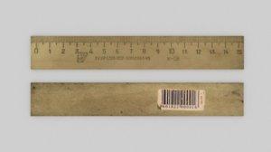 wooden ruler 3D