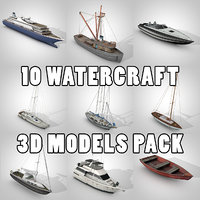10 watercraft pack water 3D model