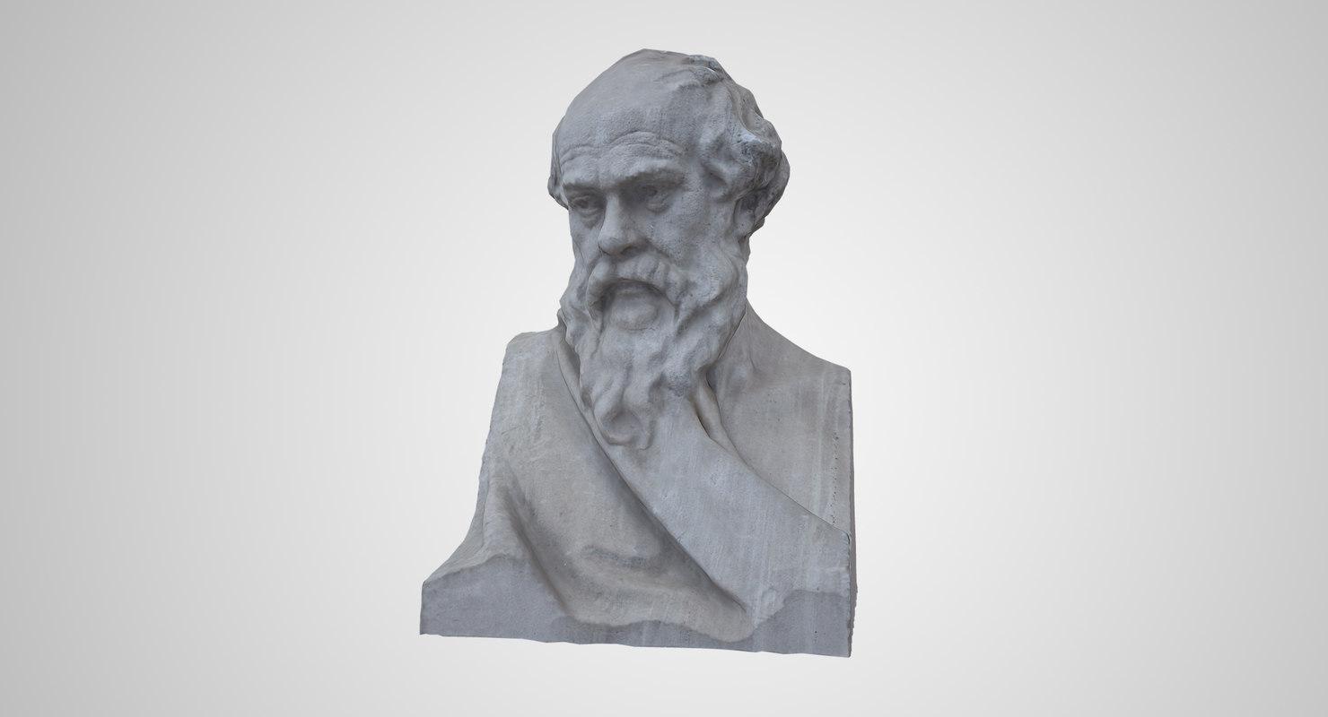 3D model socrate bust