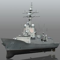hmas hobart class destroyer 3D