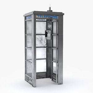 street phone booth 3D model
