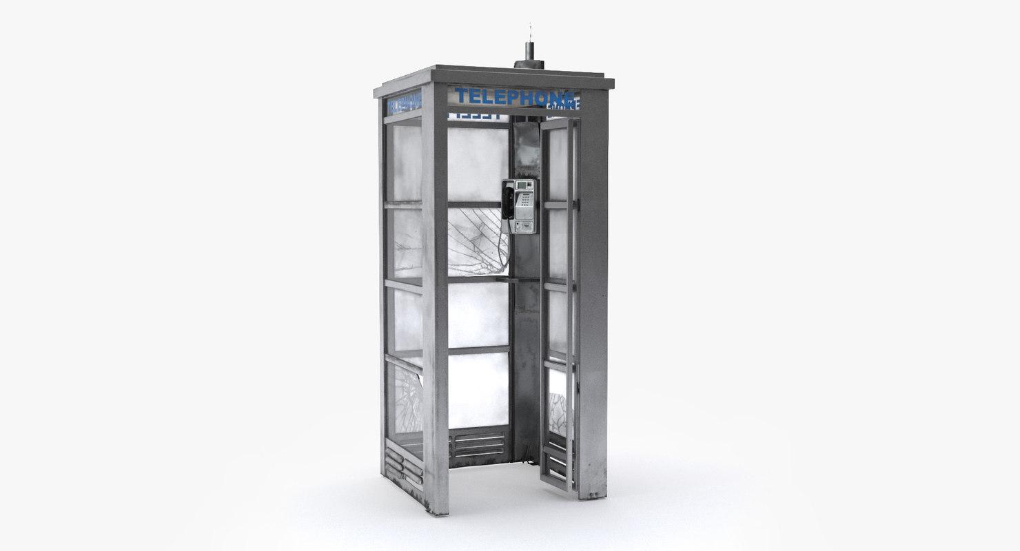 street phone booth 3D model