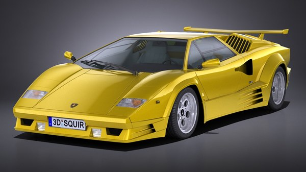 3D lamborghini countach 5000qv model