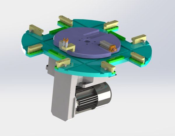 dividing plate mechanism 3D model