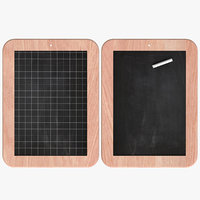 3D chalkboard office model
